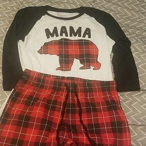 Pants - Mama bear pjs